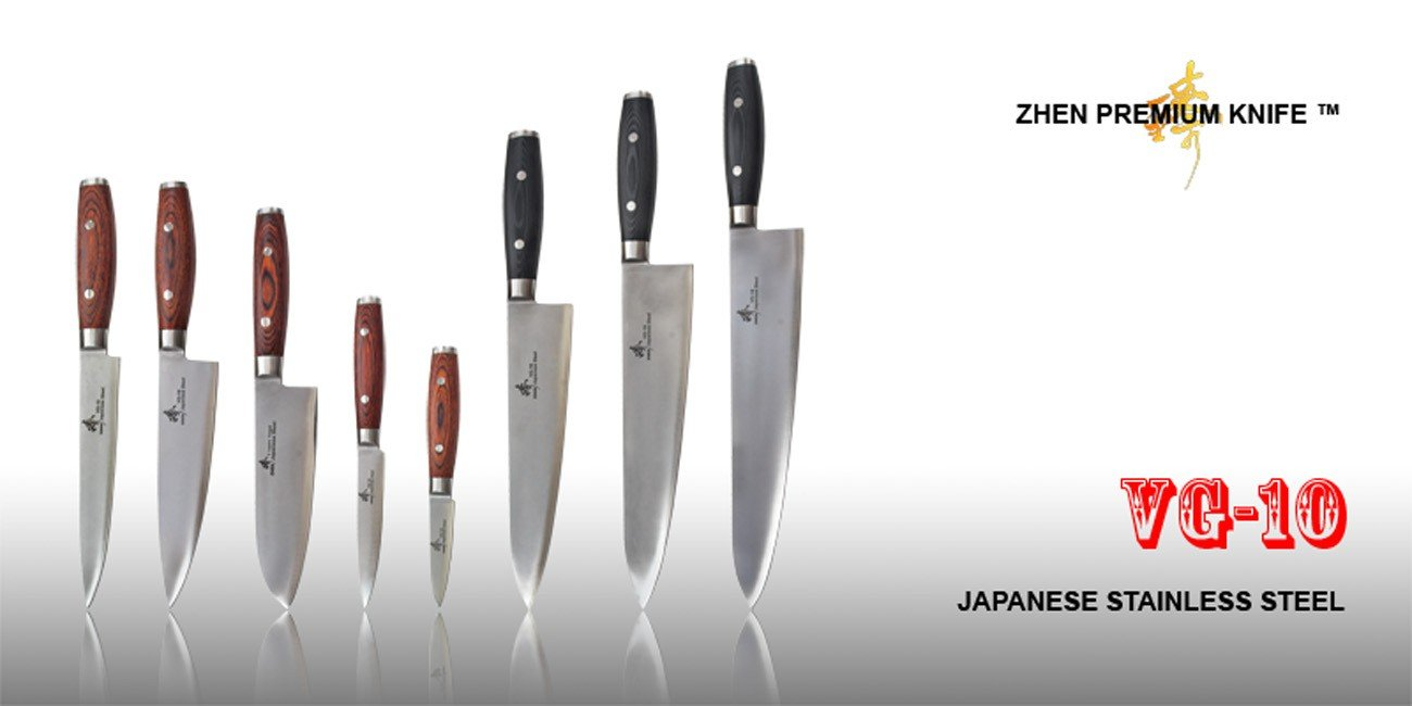 amazon com zhen japanese vg 10 3 layer forged steel cooking chef