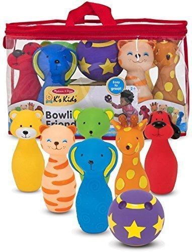K's Kids Bowling Friends Preschool Playset + FREE Melissa & Doug Scratch Art Mini-Pad Bundle [91602] ()