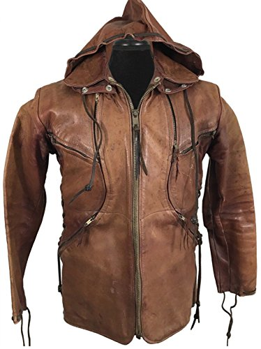 HI Hooded Jacket Quality Geniune Leather East Brown Men West zqAxptZwO