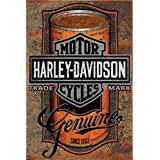 The Grid Vintage Tin Signs Oil Can Compliments to Any Harley Davidson Motorcycles Garage Decor Metal Vintage Pub Sign Pin Up