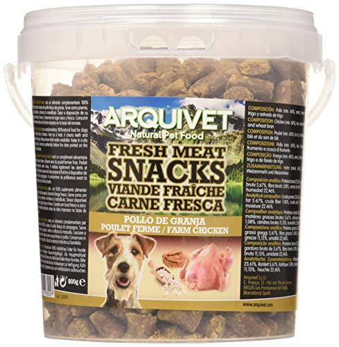 Arquivet Snacks para perro – Carne fresca de pollo de granja – Golosinas para perro – Chuches para perro – Snacks…
