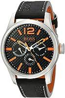 Boss Orange Men's 1513228 PARIS Analog Display Japanese Quartz Black Watch