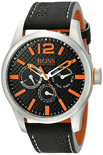 BOSS Orange Men's 1513228 PARIS Analog Display Quartz Black Watch