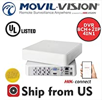 8CH DVR 1080p,ANALOG,IP,HDTVI,AHD Powered By Hikvision UL LISTED
