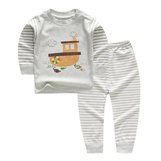 3a4efa245 Meedot Baby Boys Girls Cotton Fleece Pajamas
