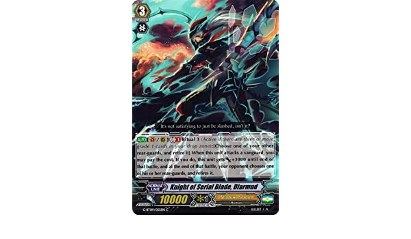 Amazon.com: Cardfight!! Vanguard TCG - Knight of Serial Blade, Diarmud (G-BT09/055EN) - G Booster Set 9: Divine Dragon Caper: Toys & Games