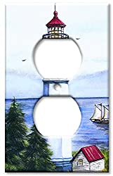 Art Plates - Lighthouse Switch Plate - Outlet Cover