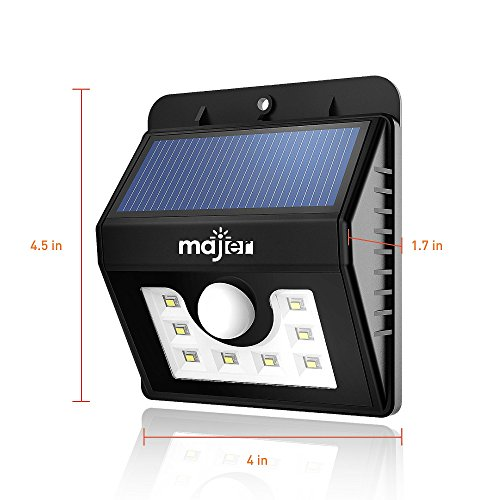 Outdoor Solar Light Majer Wireless Motion Sensor Light