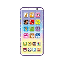 Ncient Smart Phone Éducatifs Enfants, Apprentissage Phone Jouet Électroniques Éducatif - 14 x 7 x 0,8 cm