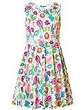 Jxstar Girl Summer Dress Sleeveless Bridesmaid Floral Printed Holiday Casual