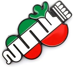 3D Metal New Italian Flag Alfa Romeo Snake Car Emblem For Car Styling Fender Trunk Lid Nameplate Sticker Decoration (Black)