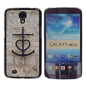 WonderWall Fondo De Pantalla Imagen Diseño Trasera Funda Carcasa Cover Skin Case Tapa Para Samsung Galaxy Mega 6.3 I9200 SGH-i527 - ancla de san valentín capitán de barco pareja el amor