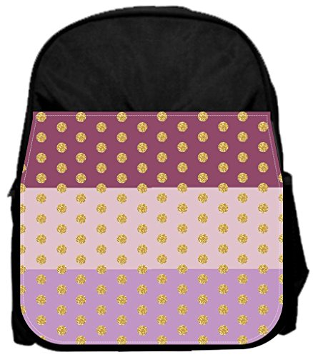 - Gold glitter polka dots on colorblock purples 14