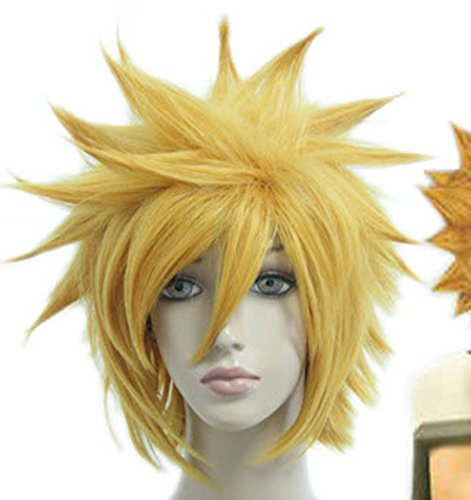 Price comparison product image SMILE Man 32cm Cosplay Anime Wig Kingdom Hearts-Ventus short yellow cosplay wig