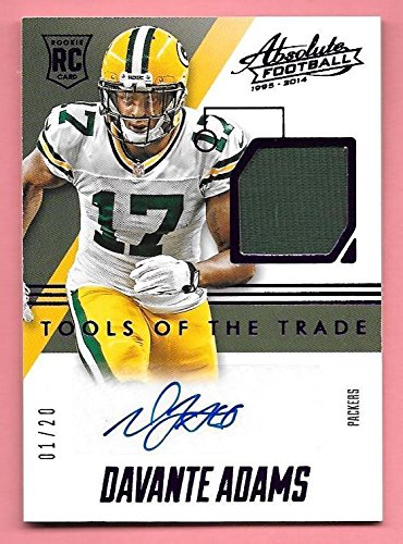 2014 Absolute Tools Of The Trade Purple Davante Adams Jersey Autograph (Absolute Jersey)