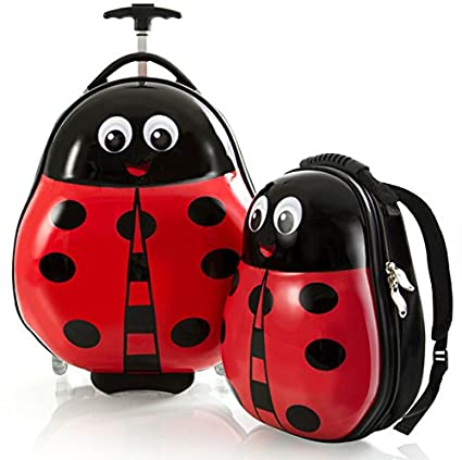 Heys America Travel Tots Kids 2 Piece Luggage Set - Ladybug