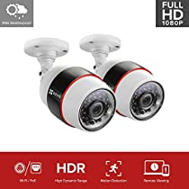 EZVIZ HUSKY All-In-One Wi-Fi Security Camera System, 2 Camera Kit, Full 1080p HD, 60ft Power Cables, Works with Alexa (Wi-Fi Connectivity - 2.4GHz Only)