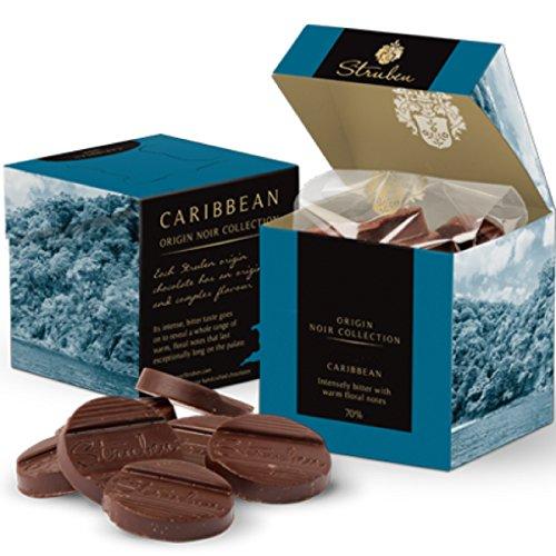 Struben Karibik Dunkle schokolade - 70% Kakoa - Zehr bitter mit warmen, blumigen Noten - Struben Origins-Schokoladen haben die originalen und vielschichtigen Aromen - 18 bitterschokolade momente