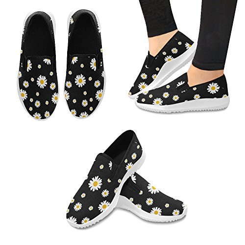 Interestprint Kvinna Slip-on Dagdrivaren Skor Duk Mode Sneakers Multi 2