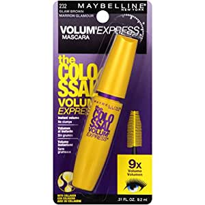 Maybelline New York Volum' Express Colossal Washable Mascara, Glam Brown [232] 0.31 oz