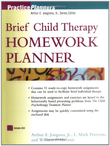 Download Brief Child Therapy Homework Planner (Practice Planners) pdf