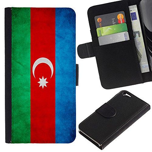 EuroCase - Apple Iphone 6 4.7 - Azerbaijan Grunge Flag - Cuir PU Coverture Shell Armure Coque Coq Cas Etui Housse Case Cover