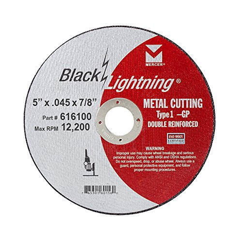 (Mercer Industries 616100 Type 1 Black Lightning Cut-Off Wheels for Metal (25 Pack), 5