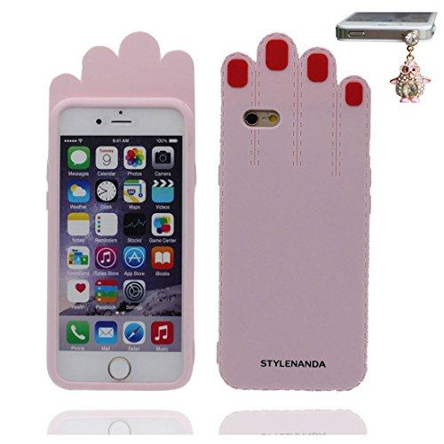 """iPhone 6 (4.7"""") Coque, [ TPU Material Flexible Palm ] Fashion Étui pour iPhone 6S (4.7""""), Dust Slip Scratch Resistant, Case souple durable flexible et Bouchon anti-poussiè"""
