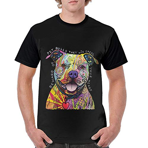 QQWDBB Mens Circular Collar T-Shirt Colourful Bulldog Fashion Youth & Adult T-Shirt
