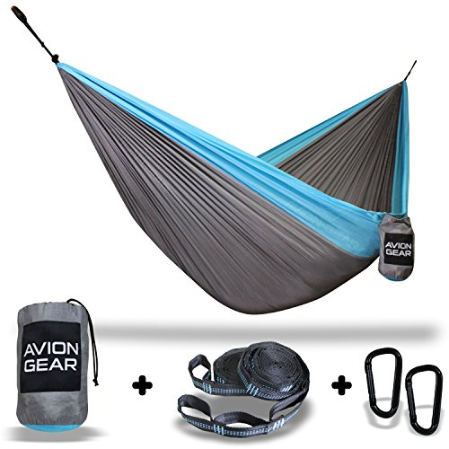 limited-time-introductory-offer-double-portable-hammock-with-included-loop-lock-tree-straps-blue