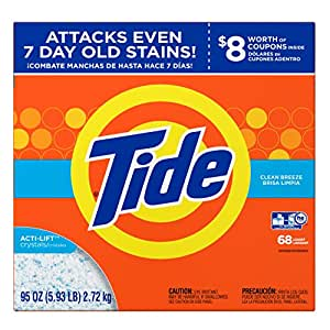 Tide Clean Breeze HE Turbo Powder Laundry Detergent, 68 Loads, 95 Oz