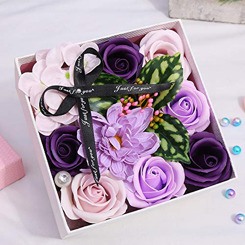 OrchidAmor Mother's Day DIY Soap Flower Gift Rose Box Bouquet Wedding Home Festival Gift 2019 New -