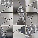 Wallandtile Oddysey Shapes 4X4 Subway Mosaic Tile