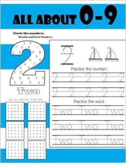 All About 0-9: Learning numbers 0-9, Funny Activity Book Counting