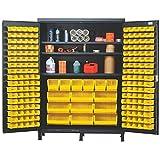 84'' H x 60'' W x 24'' D Super Wide Heavy Duty Storage Cabinet Bin Color: Yellow