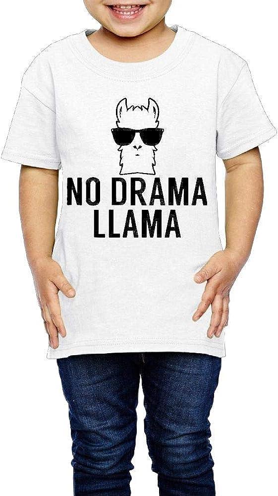Unisex Youth 3D NO Drama Llama T Shirts Short Sleeve Kids Tee