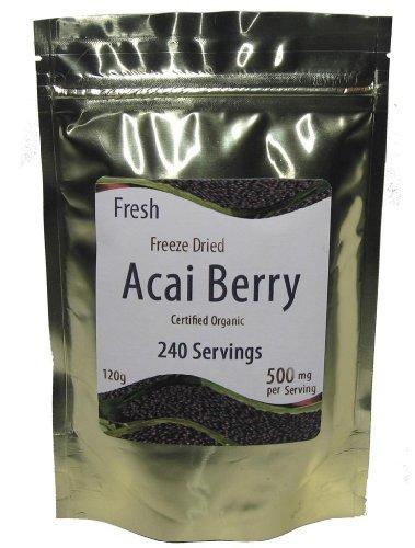 Acai Berry poudre lyophilisé bio - 500 mg - 240 portions - 120 G