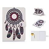 iPad Air 2 Case, TIPFLY Pretty Pattern PU Leather with [Card/Cash Slots] Magnetic Folio Flip Stand Case Cover for Apple iPad Air 2/iPad 6 (9.7 Inch) (Colorful Dream Catcher )