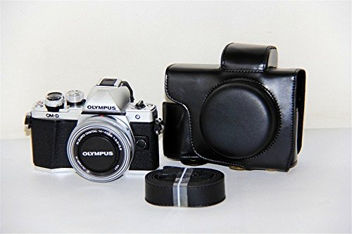 BolinUS PU Leather FullBody Camera Case Bag Cover for Olympu