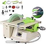 TOPCHANCES Multifunction Jewelry Rock Polishing Buffer Machine Jewelry Grinder Mill Polishing Machine Jewelry Table Bench Polisher Machine Set 220V (1380W 500-7000r/min)