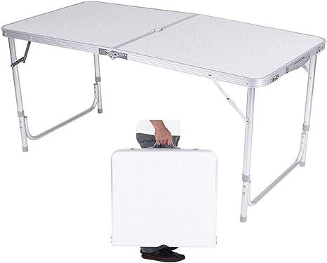 Tavolo A Valigetta Campeggio E Outdoor.Aynefy Tavolo Da Campeggio Pieghevole In Alluminio Portatile