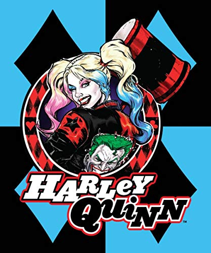 DC Comics Harley Quinn Blue Diamonds Joker Fleece Throw Blanket -