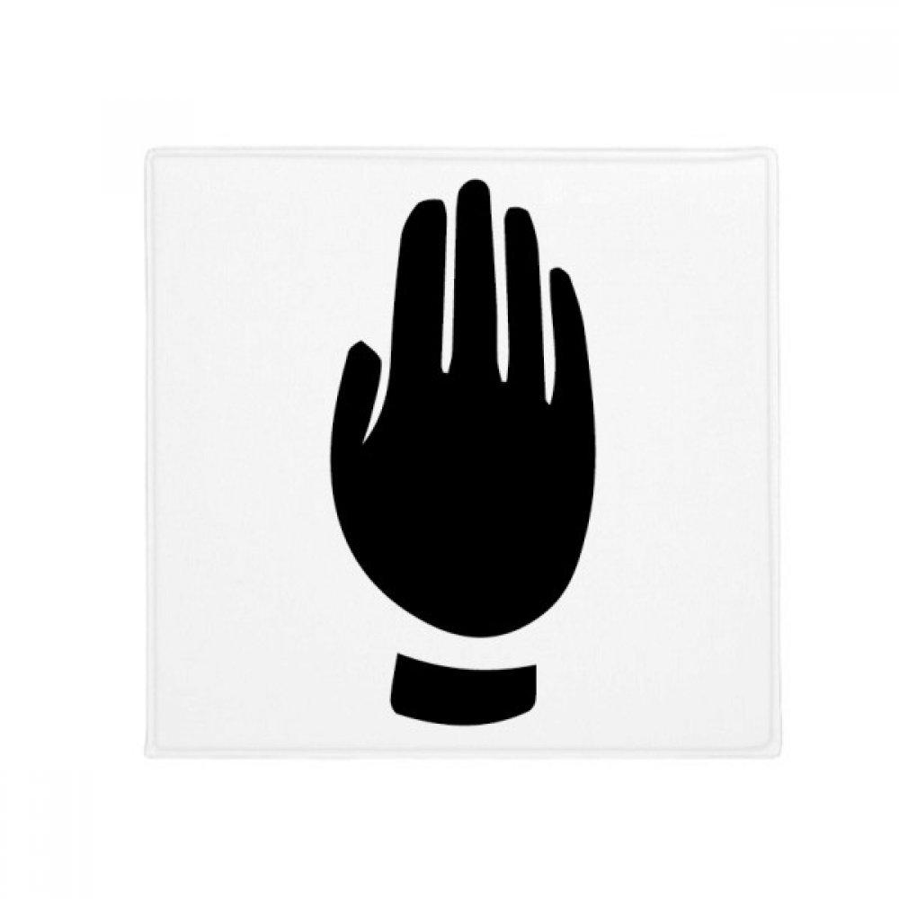 DIYthinker Gesture Black Silhouette Pattern Anti-Slip Floor Pet Mat Square Home Kitchen Door 80Cm Gift
