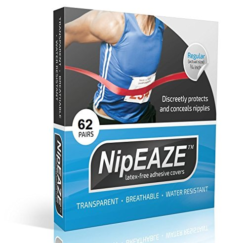 (NipEaze - 4pack Value - The Original Transparent Nip Protector - Nipple Chafing Prevention; 62 pairs)