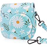 Wolven Protective Case Bag Purse for Fujifilm Instax Mini 9/Mini 8/Mini 8+ Instant Camera,Blue Flower Floral
