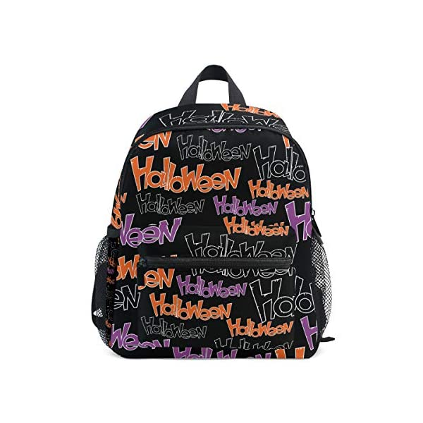 Halloween Black Letter Kid Zaino Scuola Borsa Bookbag Bambini Viaggio Daypack Ragazza Ragazzo 3-8 Anni Bambino… 1 spesavip