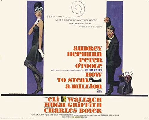 How to Steal a Million POSTER Movie (1966) Style A 11 x 14 Inches - 28cm x 36cm (Audrey Hepburn)(Peter O'Toole)(Eli Wallach)(Hugh Griffith)(Charles Boyer)(Fernand Gravet)(Marcel Dalio)