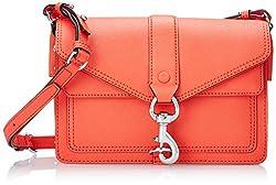 Rebecca Minkoff Hudson Moto Mini Cross Body Bag, Hot Orange,One Size