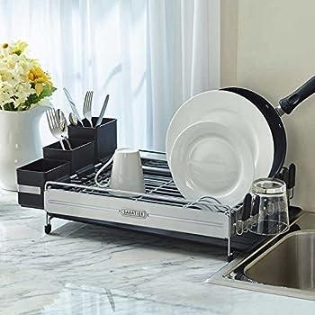 Amazon Sabatier Expandable Dish Rack With Soft Touch Coating Interesting Sabatier Expandable Dish Rack With Soft Touch Coating