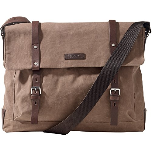 JOOP! Waxed Canvas Kimon 15'' Sac messager pour ordinateur portable nature